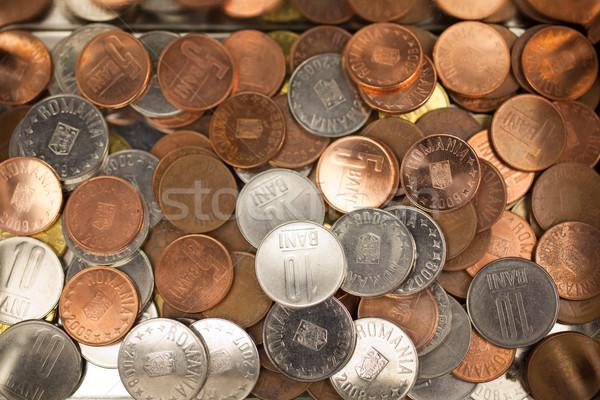 Román érmék különböző valuta fém doboz Stock fotó © igabriela