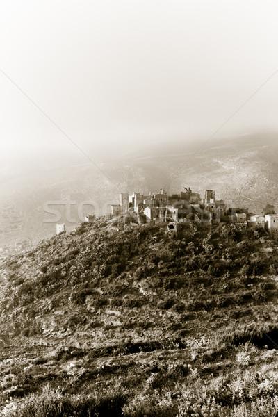 Vathia citadel Stock photo © igabriela