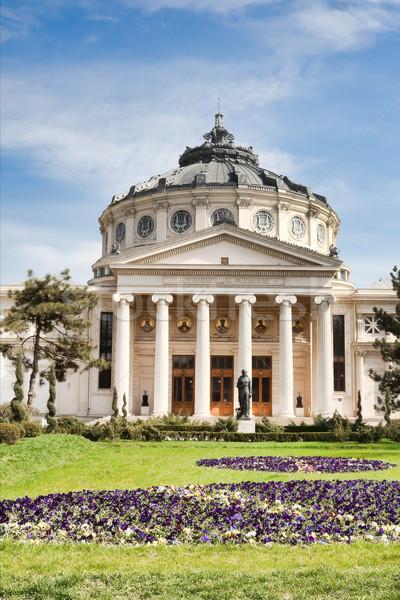 румынский здании Бухарест Румыния весны театра Сток-фото © igabriela