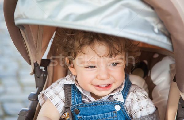 1 éves baba fiú portré szabadtér gyermek Stock fotó © igabriela