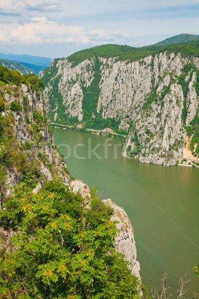 ドナウ川 風景 ルーマニア語 サイド 川 カラー ストックフォト © igabriela