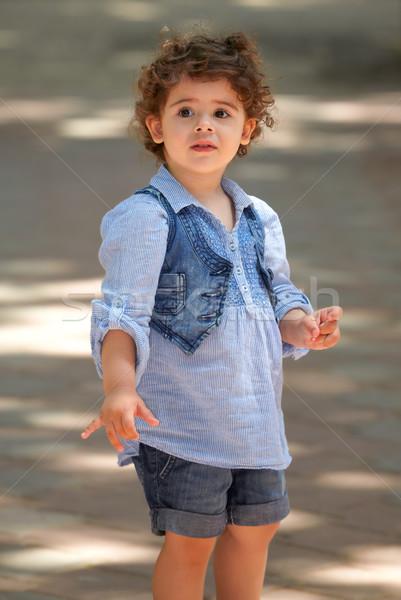 Kislány portré szabadtér tavasz boldog kétéves Stock fotó © igabriela