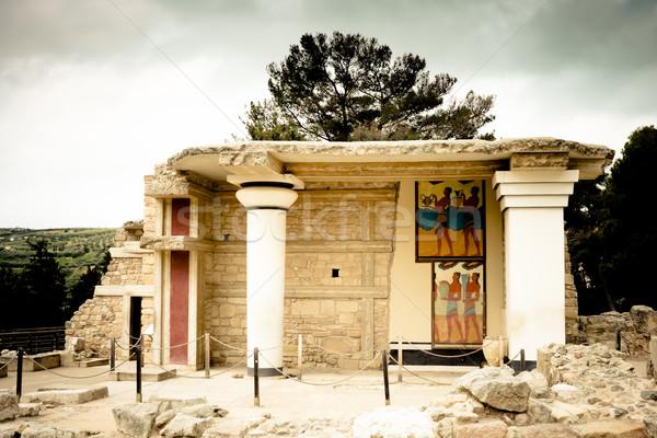 Rovine pietra tempesta buio architettura Foto d'archivio © igabriela
