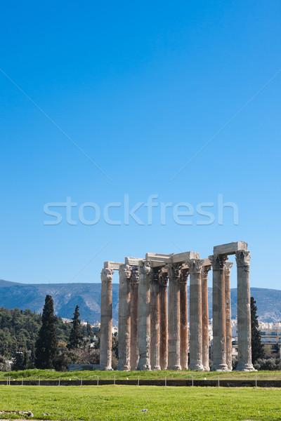 Tapınak ayrıntılar Atina Yunanistan taş Stok fotoğraf © igabriela