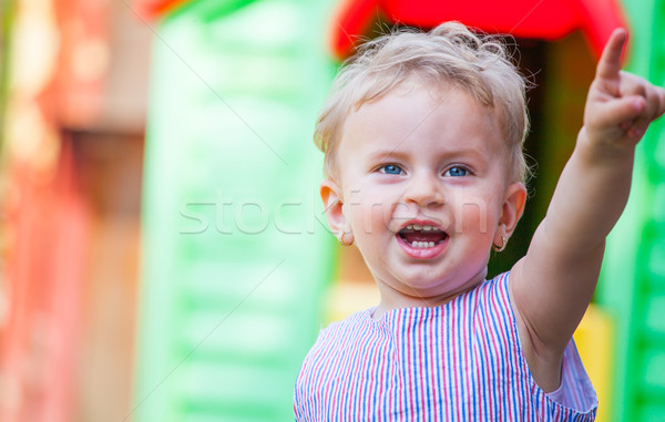 1 year old baby girl at home Stock photo © igabriela