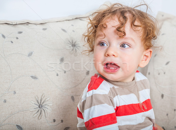 Baby boy with curly hair Stock photo © igabriela