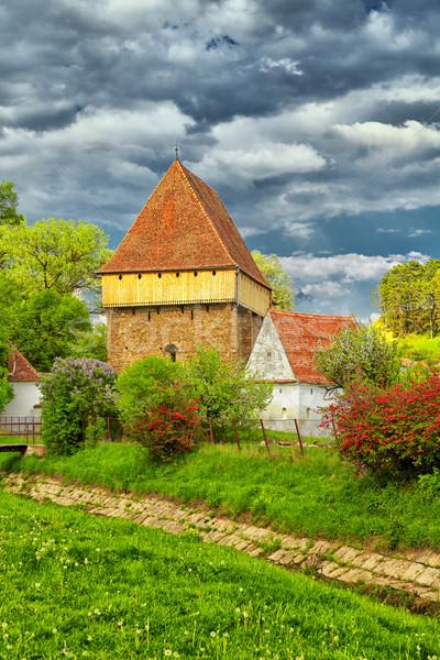 Saxon church at Bradeni Stock photo © igabriela