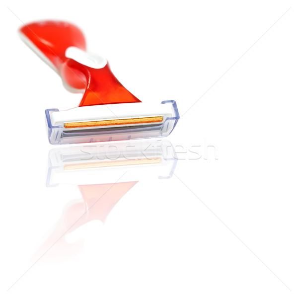 Scheermes Rood dame geïsoleerd witte schoonheid Stockfoto © igabriela