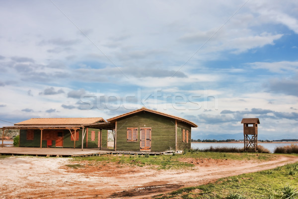 Green huts in Kalogria Stock photo © igabriela