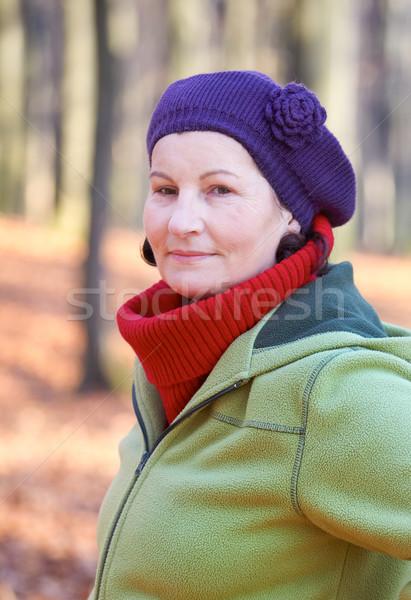 50 yo kobieta zewnątrz portret atrakcyjny Zdjęcia stock © igabriela