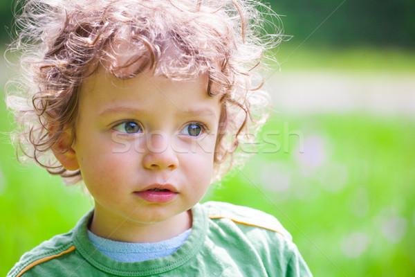 портрет мальчика Открытый год Сток-фото © igabriela