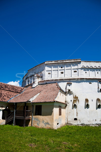 Kerk details Roemenië reizen witte Europa Stockfoto © igabriela