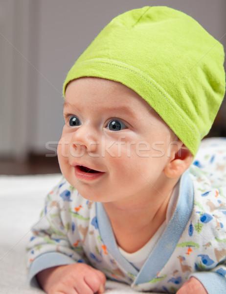 Baba fiú pocak idő hónapok otthon Stock fotó © igabriela