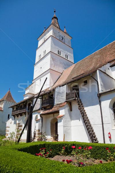 Kirche Europa mittelalterlichen Jahreszeit Wahrzeichen Stock foto © igabriela