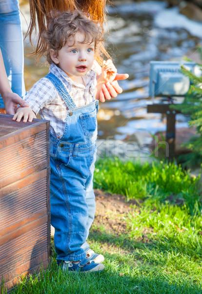 1 год ребенка мальчика портрет Открытый ребенка Сток-фото © igabriela