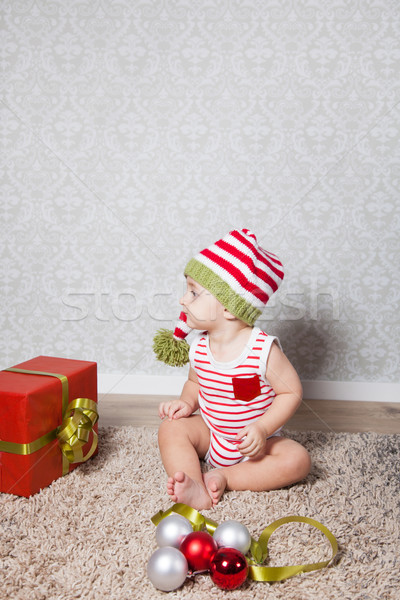 Baby boy Christmas portrait Stock photo © igabriela