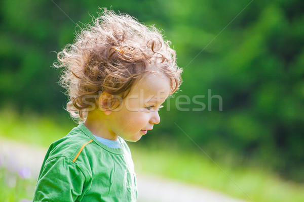 1 year old baby boy portrait Stock photo © igabriela