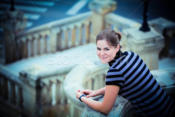 Young woman vintage portrait Stock photo © igabriela