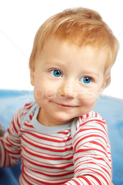 счастливым ребенка мальчика студию портрет один год Сток-фото © igabriela