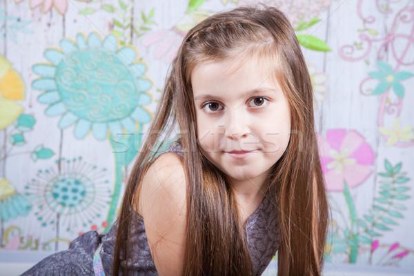 8 year old girl Stock photo © igabriela