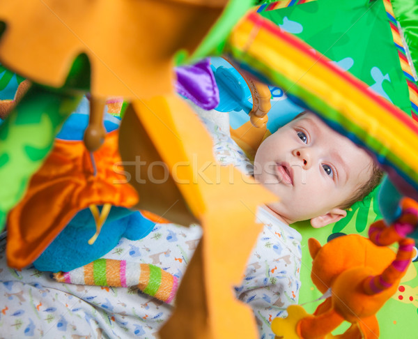Baby boy on playmat Stock photo © igabriela