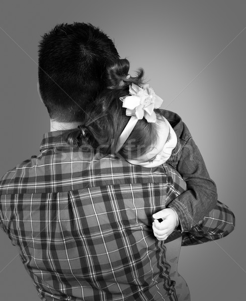 Daughter with daddy Stock photo © igabriela