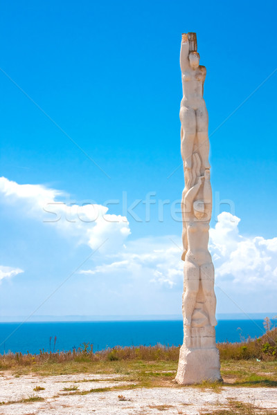 40 hajadon szobor Stock fotó © igabriela