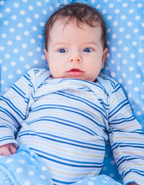 Maanden oude baby jongen home portret Stockfoto © igabriela