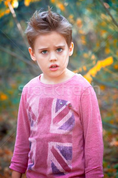 少年 肖像 屋外 秋 幸せ ストックフォト © igabriela