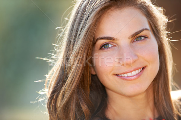 Closeup portrait of young woman Stock photo © igabriela