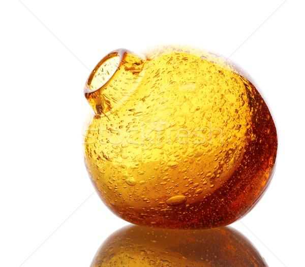 Foto d'archivio: Vetro · vaso · interessante · arancione · isolato · bianco