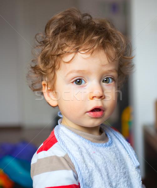 1 год ребенка мальчика портрет домой Kid Сток-фото © igabriela