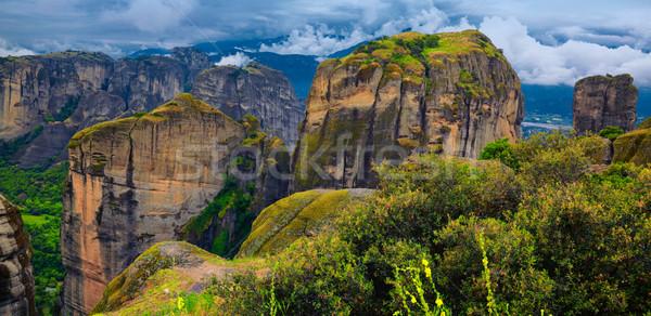Elképesztő tájkép régió Görögország természet hegy Stock fotó © igabriela