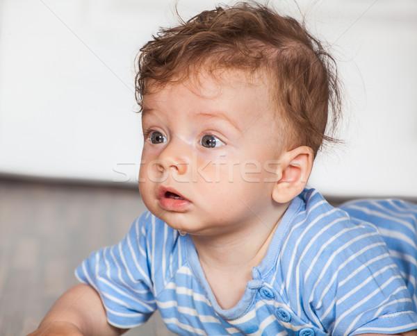 Hónapok baba fiú portré öreg otthon Stock fotó © igabriela
