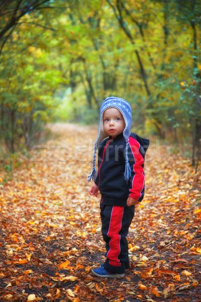 ребенка мальчика лесу портрет 1 год Сток-фото © igabriela