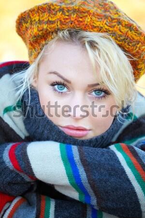 Autumn woman portrait Stock photo © igabriela
