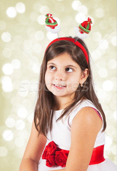 Little girl pronto natal retrato 8 anos Foto stock © igabriela