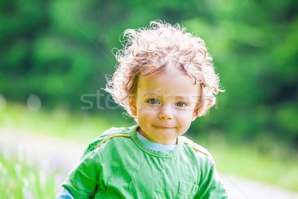 ストックフォト: 赤ちゃん · 少年 · 肖像 · 山
