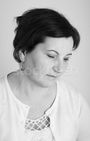 Ritratto bella grigio nero femminile Foto d'archivio © igabriela