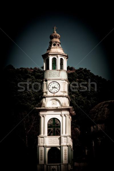 Iglesia pueblo viaje Europa torre religión Foto stock © igabriela