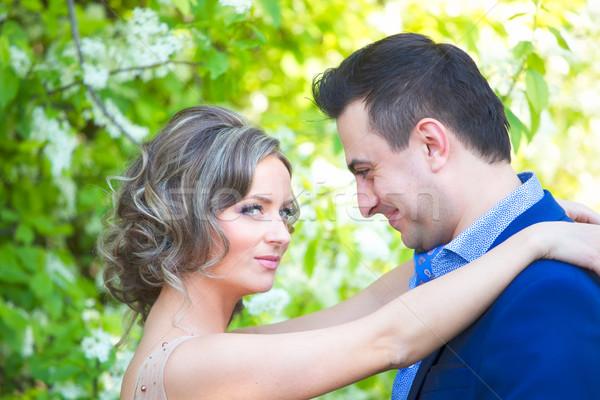 ストックフォト: 花嫁 · 新郎 · 面白い · 肖像 · 新しく · カップル