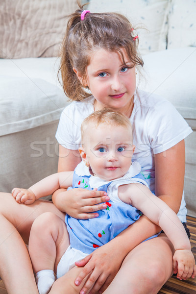 Portrait of two sisters Stock photo © igabriela