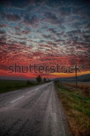 ストックフォト: 日の出 · 秋 · モルドバ · 地域 · ルーマニア