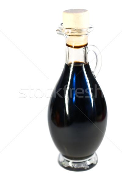 Aceto bottiglia isolato bianco alimentare liquido Foto d'archivio © igabriela