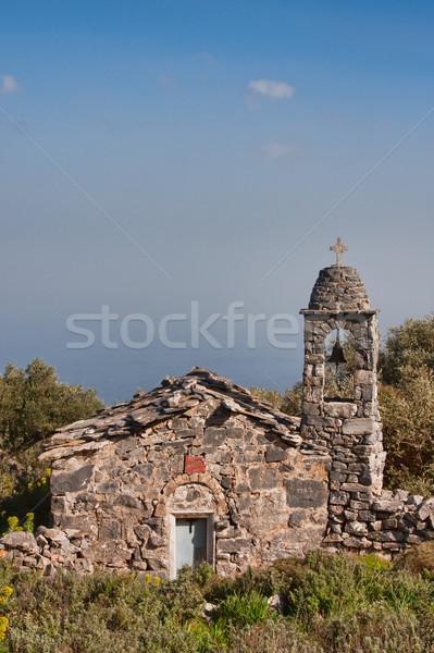 Oude kapel sluiten steen Griekenland voorjaar Stockfoto © igabriela