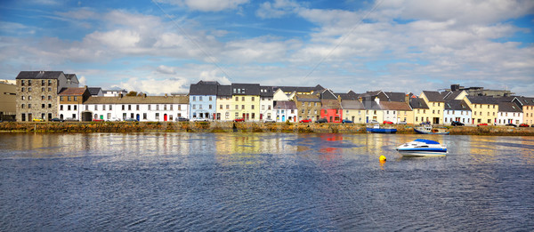Panoráma város Írország tájkép tenger utazás Stock fotó © igabriela