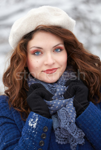 Beautiful young woman outdoor in winter Stock photo © igabriela