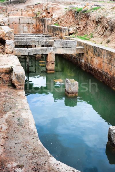 Víztartály víz görög romok múzeum ősi Stock fotó © igabriela