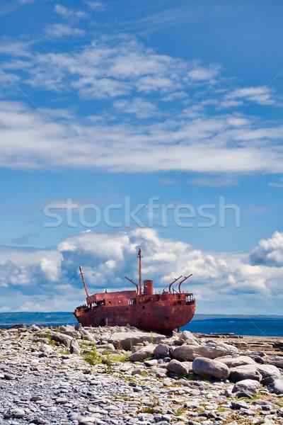 Destruir ilha Irlanda céu mar areia Foto stock © igabriela