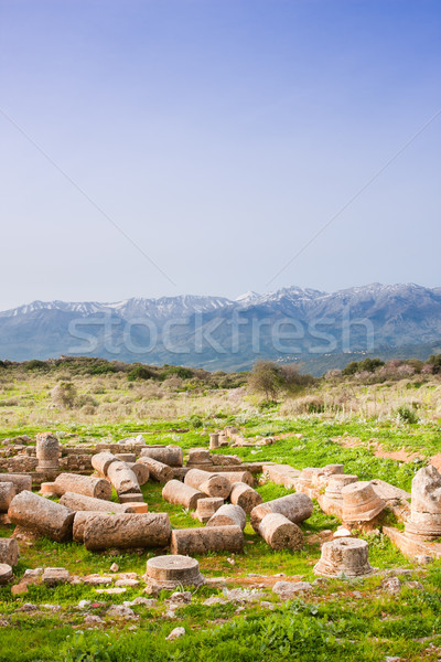 Antica casa romana dominazione costruzione muro Foto d'archivio © igabriela